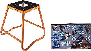 Matrix Concepts C1 Motocross Steel Dirt Bike MX Stand with Limited Edition 25 Piece Sticker Kit (Orange)