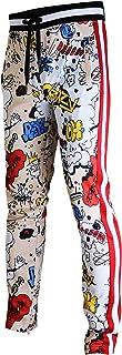 SCREENSHOT Mens Hip Hop Premium Slim Fit Urban Track Pants - Athletic Jogger Bottom with Side Taping Streetwear