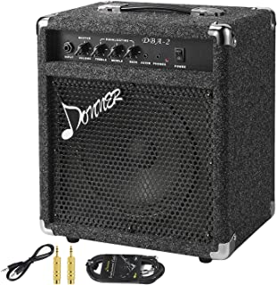New Donner 25W Bass Guitar Amplifier DBA-2 Electric Bass Combo AMP with Cable
