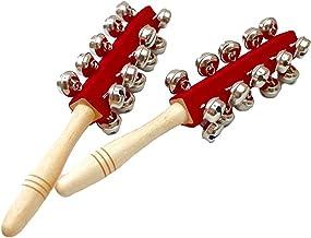 【mon luxe 】スレイベル スレーベル ハンドベル ジングルベル 楽器 28cm 鈴21個 2本セット