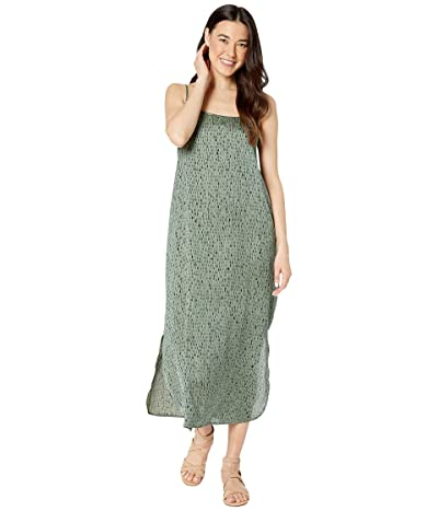 Eileen Fisher Petite Silk Dash Print Cami Dress (Nori) Women