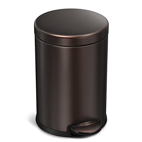 Bathroom Trash Cans With Lids Amazoncom