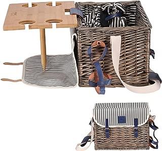 Best wicker picnic basket set for 2 Reviews