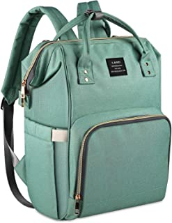 Land Green Diaper Bag for Mom Dad Roomy Large Capacity Baby Diaper Backpack