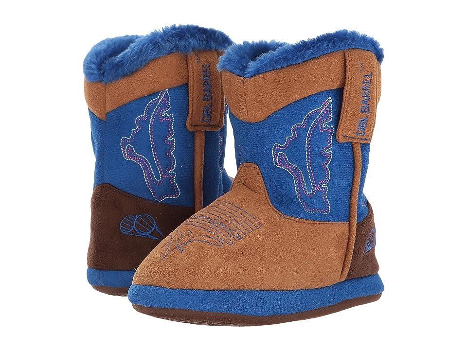 M&F Western Kids Cowboy Bootie Slipper (Toddler/Little Kid/Big Kid) (Tan/Blue) Boys Shoes