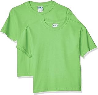 Gildan Camiseta juvenil de algodón ultra para niños, paquete de 2