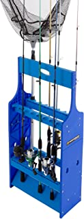 Fishing Rod Rack- Plastic Floor Storage Holder, Organizer Stand for Home or Garage, Fits 16 Freshwater or Saltwater Rods b...