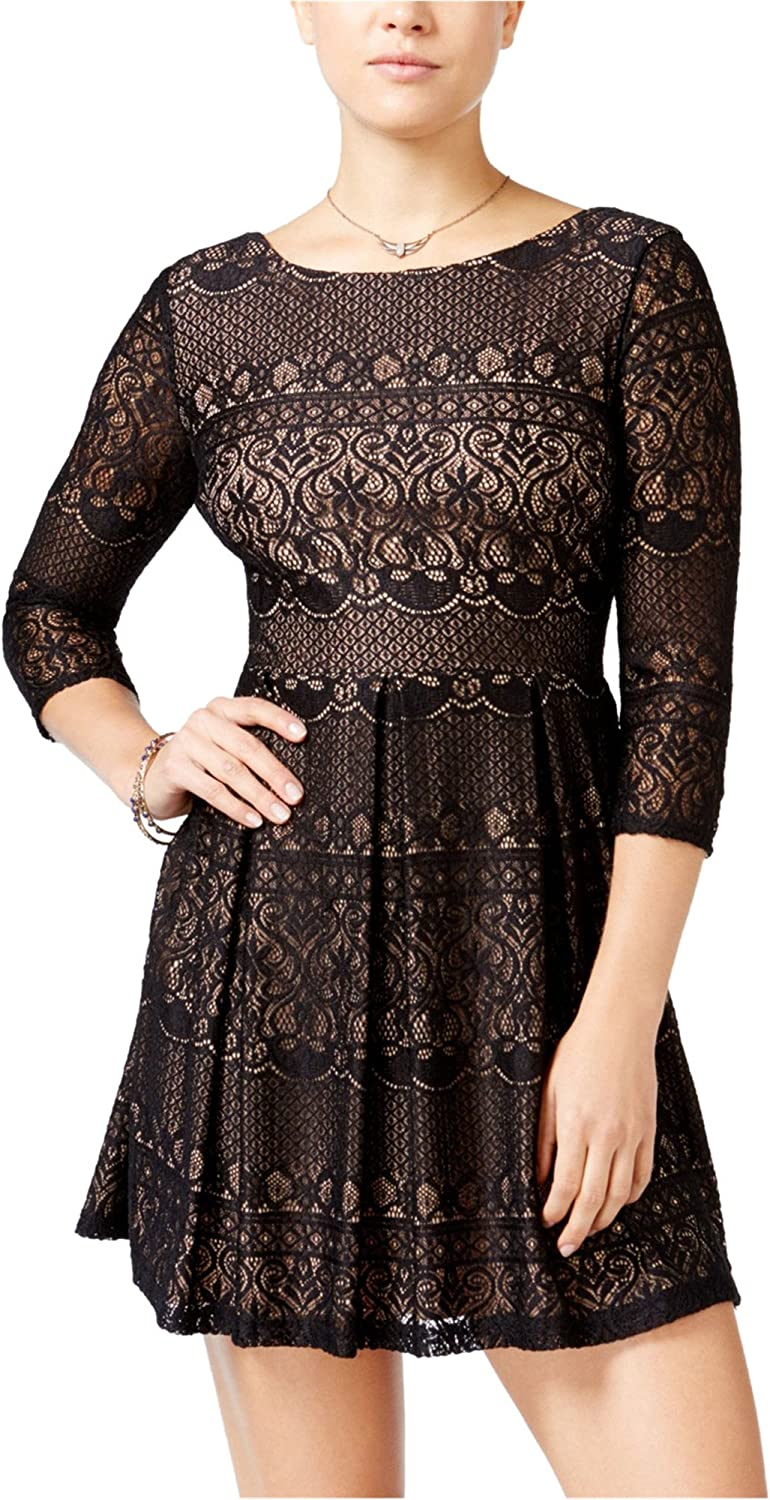 B. Darlin Womens Lace ALine Dress