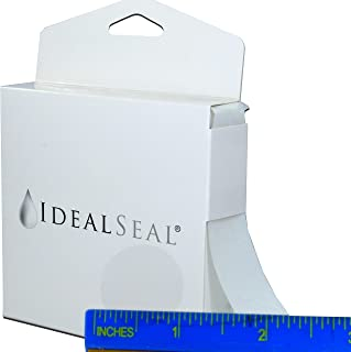 """1,000 Super Gloss Clear Round Stickers (with Dispenser Box) Clear Retail Package Seals Mailing Seals Envelope Seals 1"""" Round Circle Wafer Stickers 1000 Per Roll (1 Roll Per Box) USA (1 Box (1000))"""