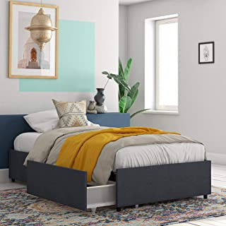 cheap twin platform bed with storage