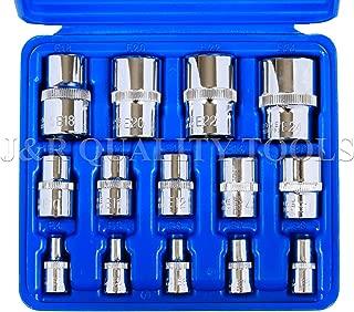 14pc Torx Torq Torque Star Female E-socket Set Bit 1/4