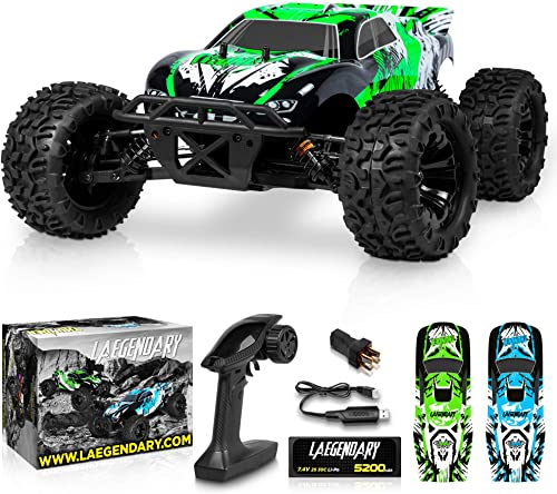 new arrival 1:10 Scale Brushless RC Cars 65 km/h discount Speed - Boys Remote Control Car 4x4 Off Road Monster Truck Electric - All Terrain Waterproof Toys for Kids and Adults -2 Body Shell + Connector for 30+ wholesale Mins Play online