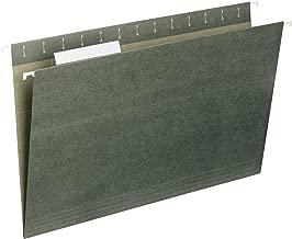 Carpeta colgante con pestaña, Verde, Legal
