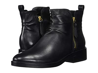 Cole Haan Harringtion Grand Slouch Bootie (Black Leather/Black) Women