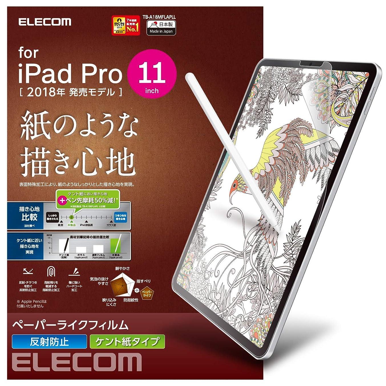 Elecom Paper-Feel Screen Protector for New 2018 iPad Pro 11 inch Anti-Glare Anti-Fingerprint Anti-Scratch Protection Bubble-Free