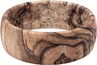 انگشتر عروسی سیلیکونی Groove Life برای مردان - حلقه های لاستیکی قابل تنفس برای مردان ، پوشش مادام العمر ، طراحی منحصر به فرد ، انگشتر مردانه متناسب با راحتی - Nomad