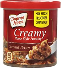 Duncan Hines Creamy Home-Style Frosting, Coconut Pecan,15-Ounce Canisters (Pack of 8)