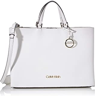 Calvin Klein Sided Tote Lg Luggage & Travel Gear, White, 36 cm - K60K606353