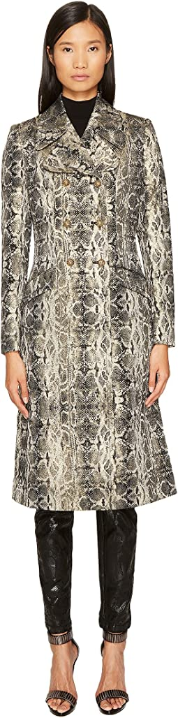 Just Cavalli - Snake Print Double Breasted Coat