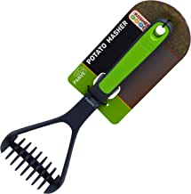 Parve Green Potato Masher – Non Stick Silicone, Long, Comfortable Grip - Easily Mash, Soften and Crush Hot and Cold Cooked...