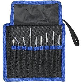 outils de crochetage de timbres /électroniques FifijuanC Lot de 4 pinces /à /épiler de pr/écision professionnelles en acier inoxydable pour loisirs cr/éatifs fabrication de bijoux mod/élisme