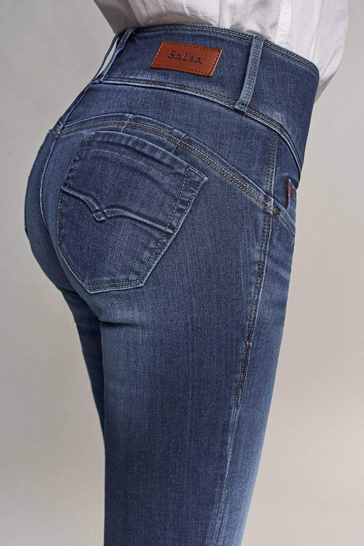 Salsa Jeans Mystery Slim délavage Premium Bleu