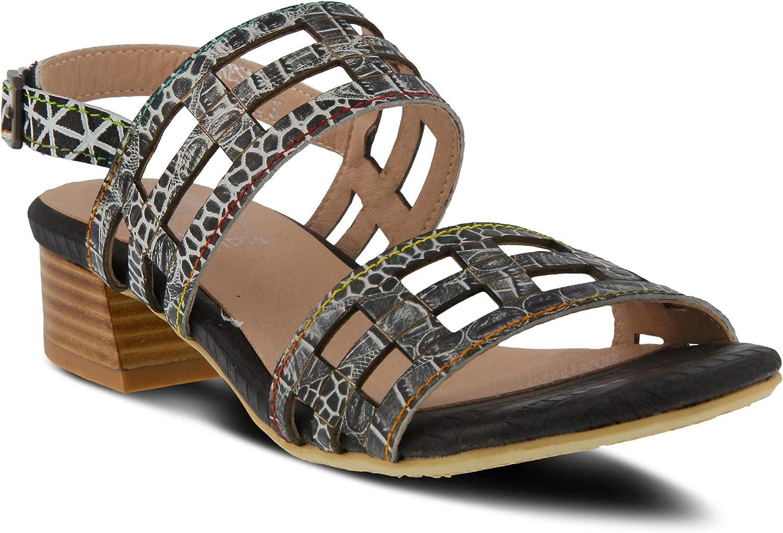 L'ARTISTE Women's Anesa Leather Slingback Sandal