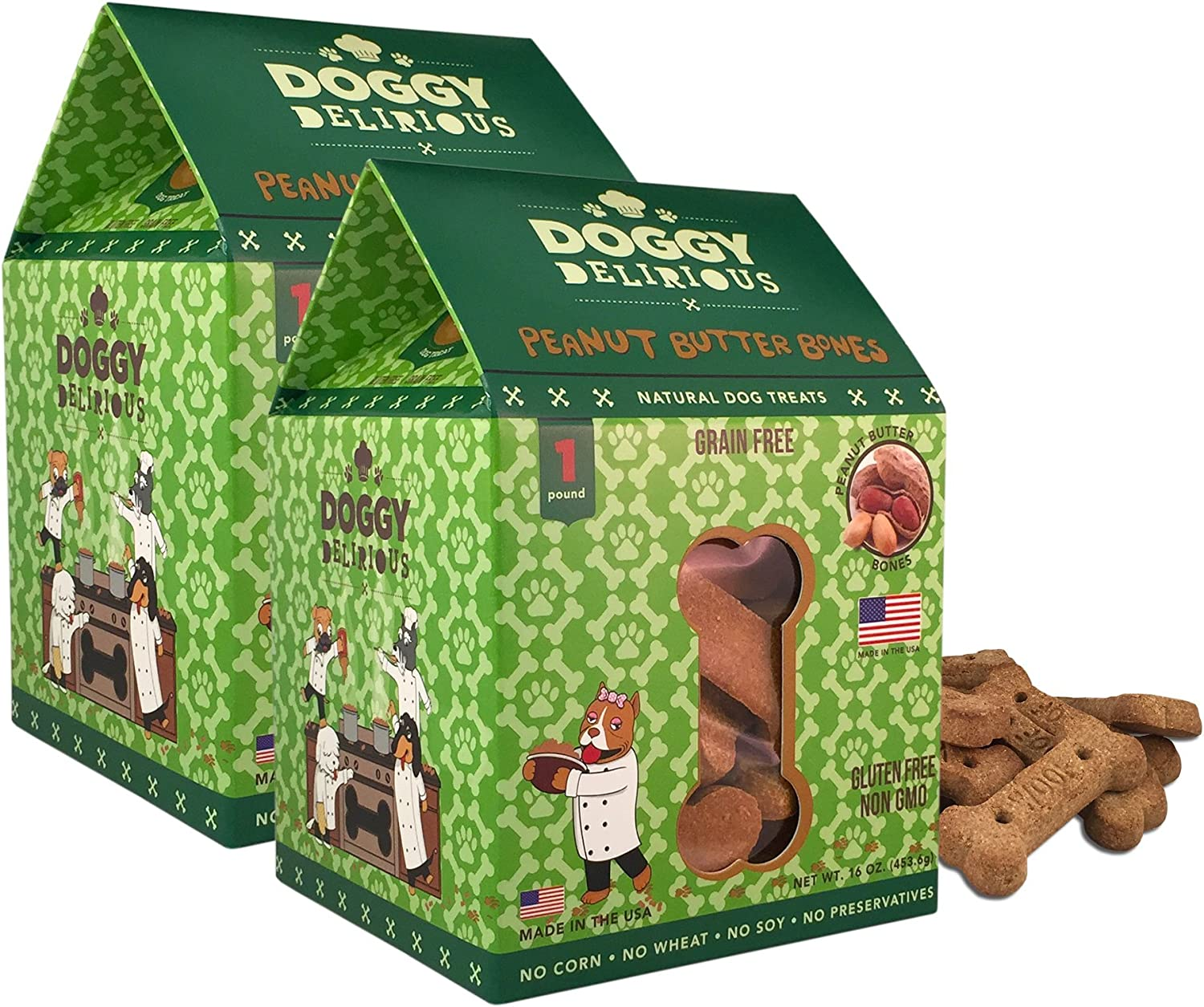 Doggy Delirious Crunchy Dog Treats – Limited price Sizes for New popularity Bre Pet All