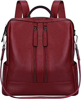 Carise Women Genuine Leather Travel Backpack Handbag Shoulder School Bag Rucksack Satchel