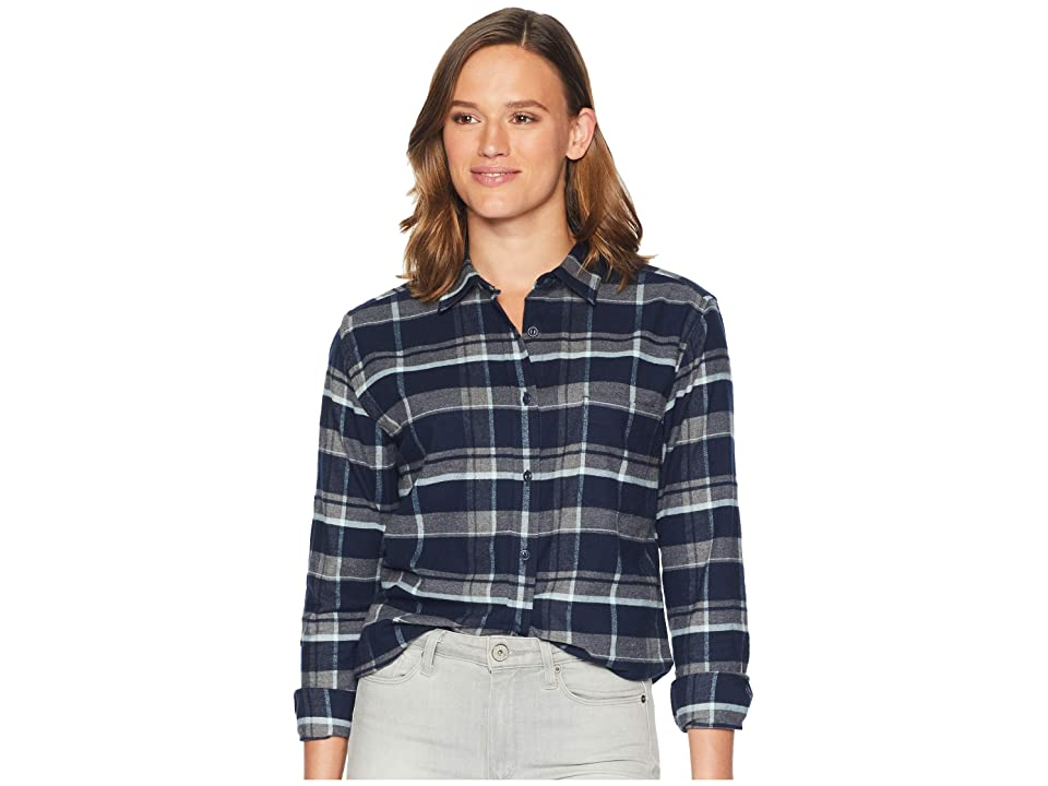 The North Face Long Sleeve Boyfriend Shirt (Urban Navy Multi Tartan Plaid) Women