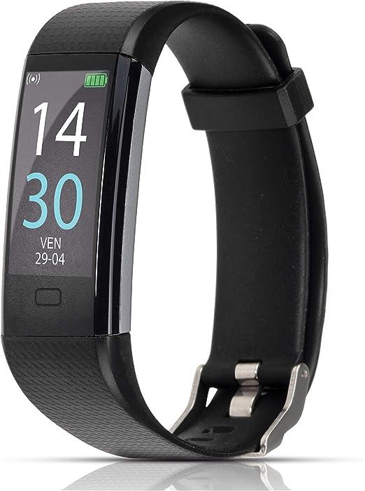 ITALNIC Reloj Inteligente de Actividad física Bluetooth Hombres Mujeres con Oxímetro, Termometro, frecuencia cardíaca, Podómetro Deportivo Calorías GPS Despertador Impermeable IP68 Android iOS