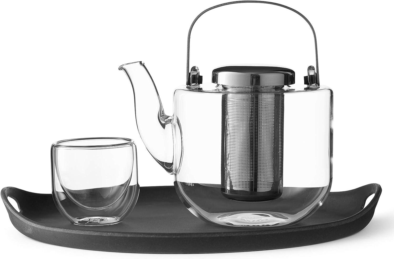 VIVA Atlanta Mall Bjorn Loose Super sale period limited Leaf Tea Infuser Glass With Removab Teapot Set: