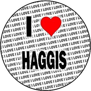 AK Giftshop I Love Haggis - Decoración Redonda para Tartas (20 cm)