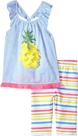 Pineapple Ruffle Tunic & Capris Two-Piece Set (Infant)