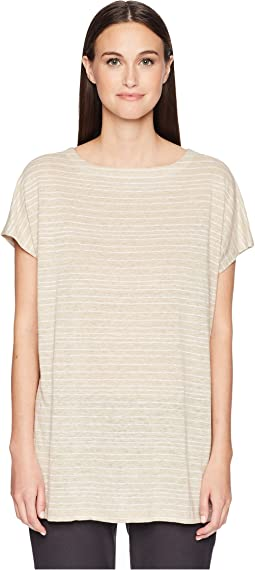 Organic Linen Striped Top