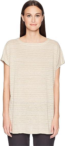 Organic Linen Striped Top