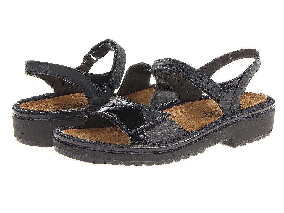Naot Erica (Shiny Black Leather/Black Patent Leather/Metallic Road Leather) Women