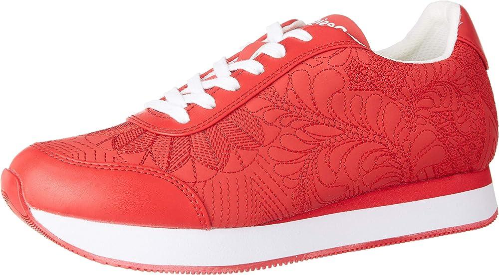 Desigual shoes galaxy lottie, scarpe sneakers da donna, in pelle sintetica 20SSKP34100036