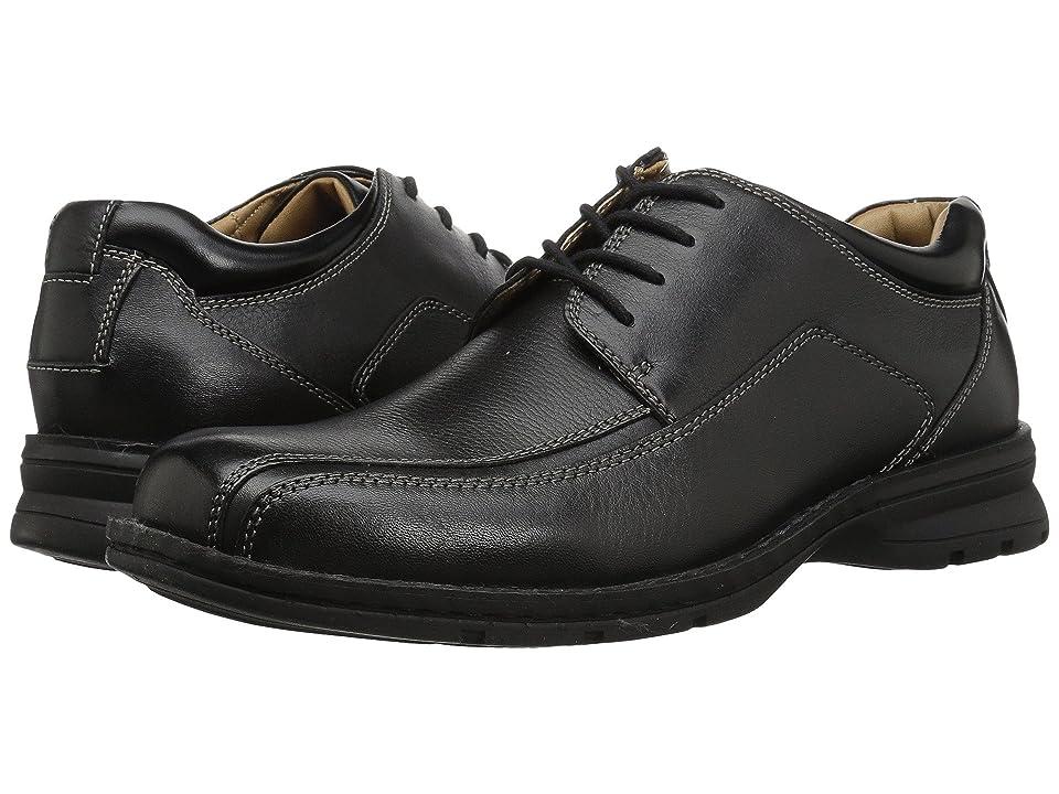 Dockers Trustee Moc Toe Oxford (Black Tumbled Leather) Men