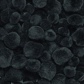 Darice POMS Acrylic Black 2IN 8PC PK 10179-90