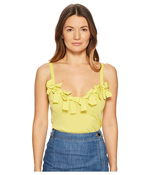 Boutique Moschino Stretch Viscose Sleeveless Blouse with Bow Applications