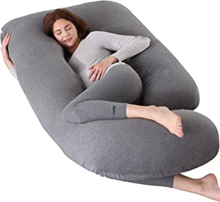 Elover Pregnancy Pillow U-Shaped Full Body Maternity Support Pillow for Pregnant Women with Support Detachable Extension Size 60