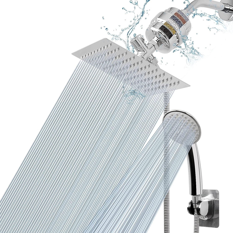 NearMoon Filtered Shower Head High 8″Square Max 65% OFF Show Rain Super-cheap Pressure