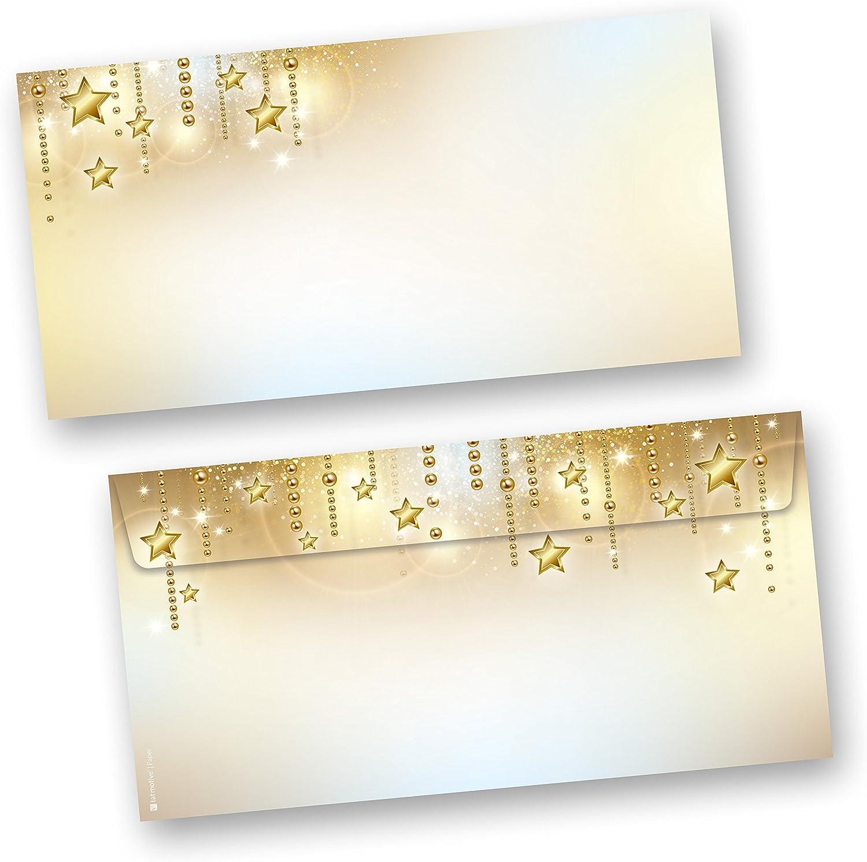 Briefumschläge Weihnachten STARDREAMS 1000 Stück din lang ohne Fenster, beidseitig mit Motiv bedruckt für Briefe B01LLQ3NA0   Neues Produkt