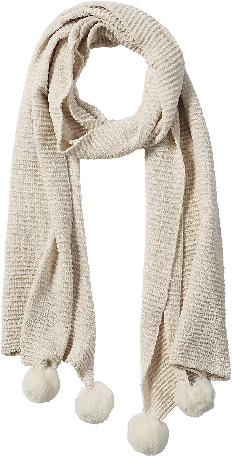 Tickled Pink womens Scarf Albuquerque Mall Chenille In stock Cozy
