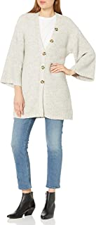 cupcakes and cashmere Womens CJ406698 Reverie Relaxed Cardigan with Button Details Cardigan Sweater