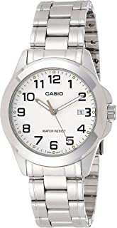 Casio Men's White Dial Stainless Steel Analog Watch - MTP-1215A-7B2DF