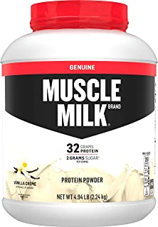 Sponsored Ad - Muscle Milk Genuine Protein Powder, Vanilla Creme, 32g Protein, 4.94 Pound, 32 Servings