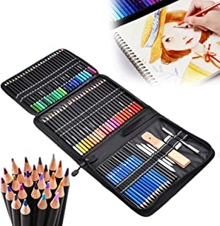 95-Piece Professional Drawing Pencils and Sketch Set Includes Oil d Pencil Sketch Charcoal Graphite Pencil Sharpener Erase...