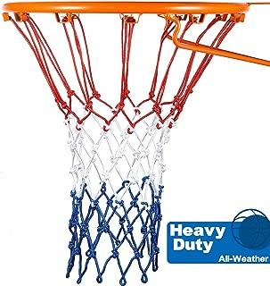 Syhood Basketball Net Hoop Net Replacement for All Weather, Fits Standard Indoor or Outdoor Basketball Hoop, 12 Loop